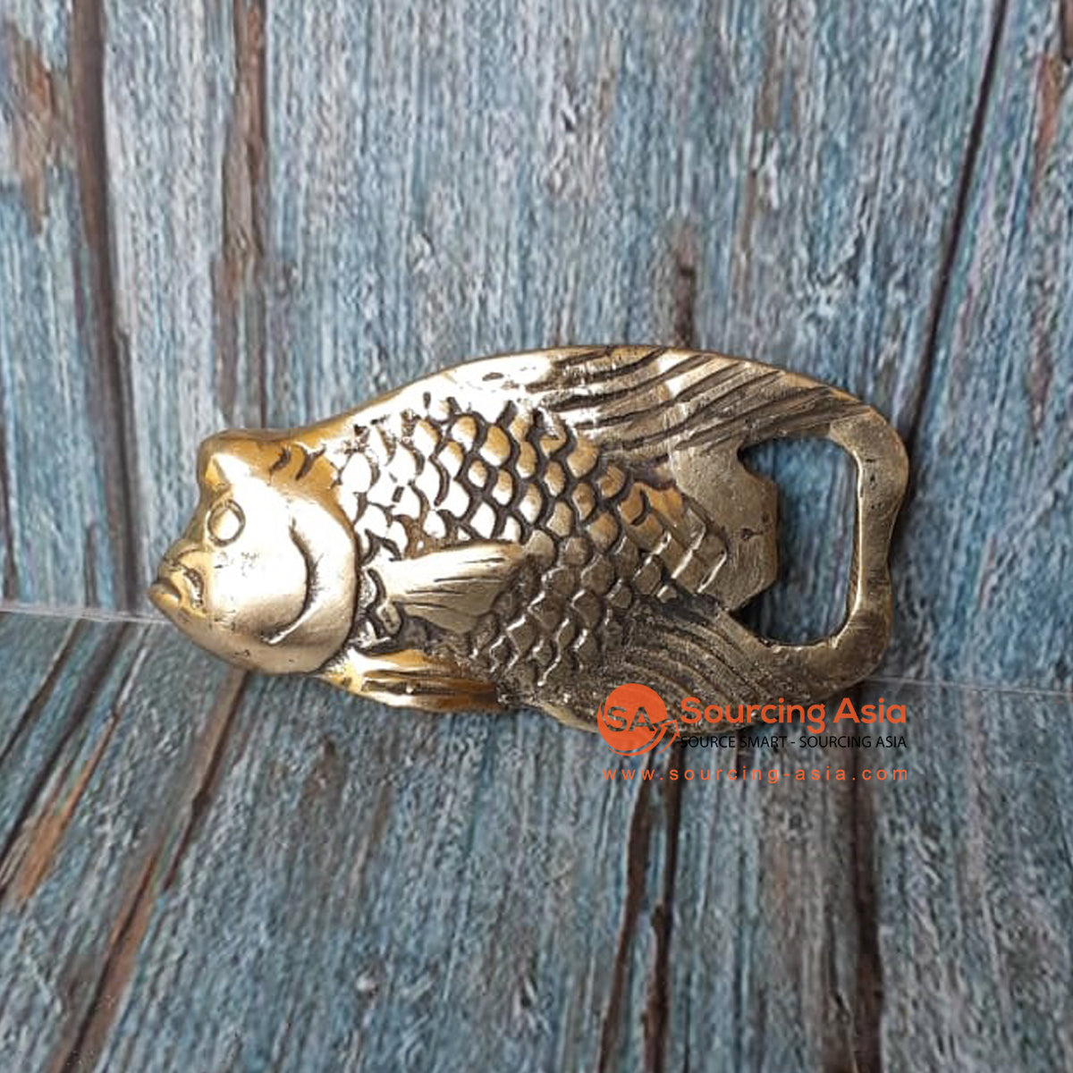 GB163 BRONZE BOTTLE OPENER FISH