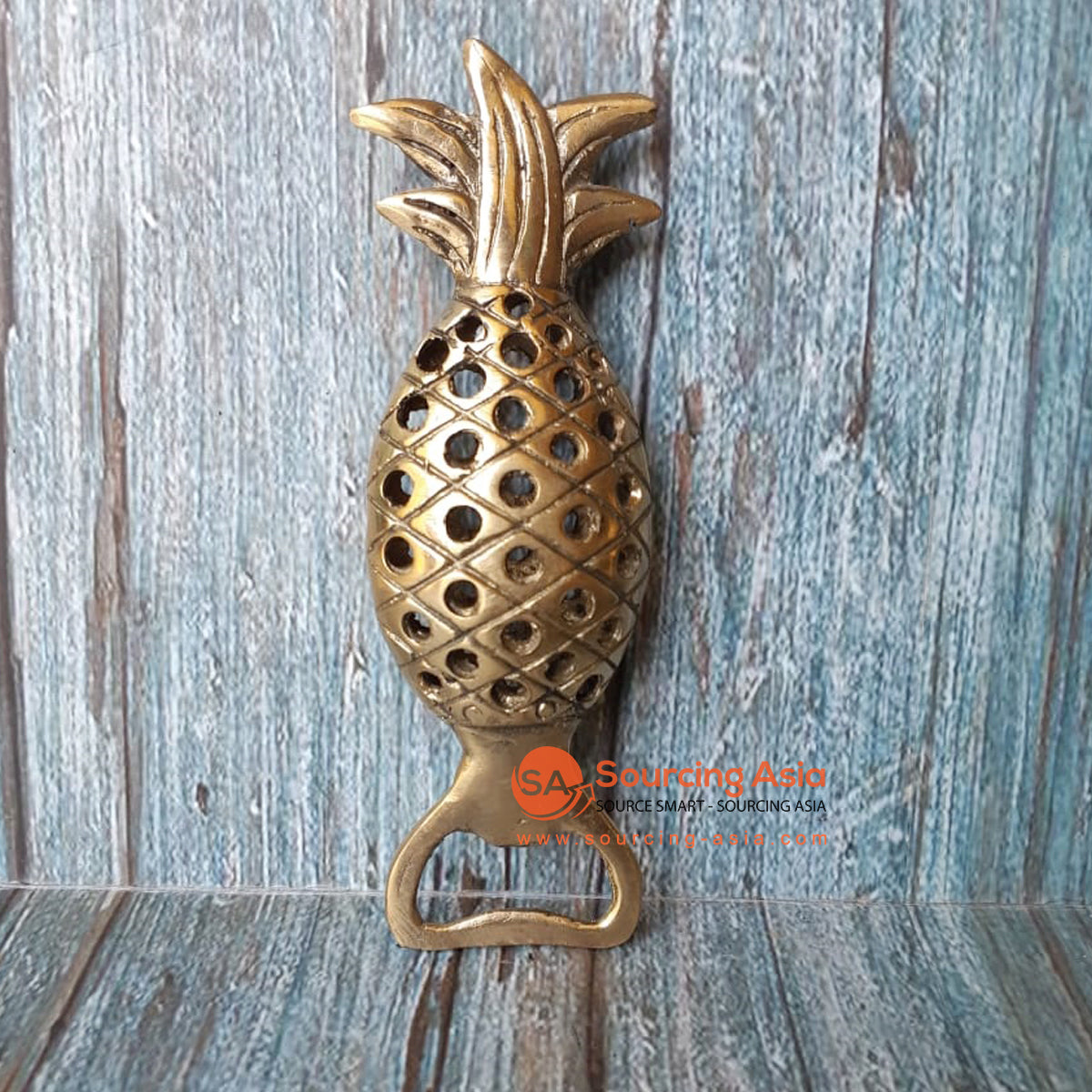 GB172 BRONZE BOTTLE OPENER PINEAPPLE