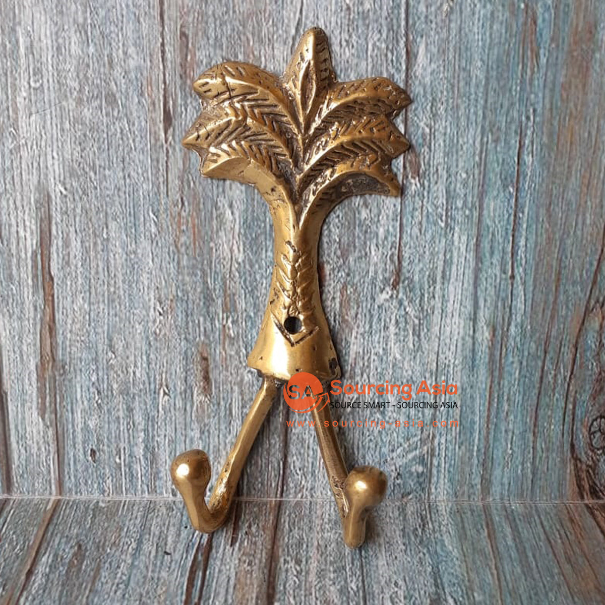 GB184 BRONZE PALM TREE WITH 2 HOOK