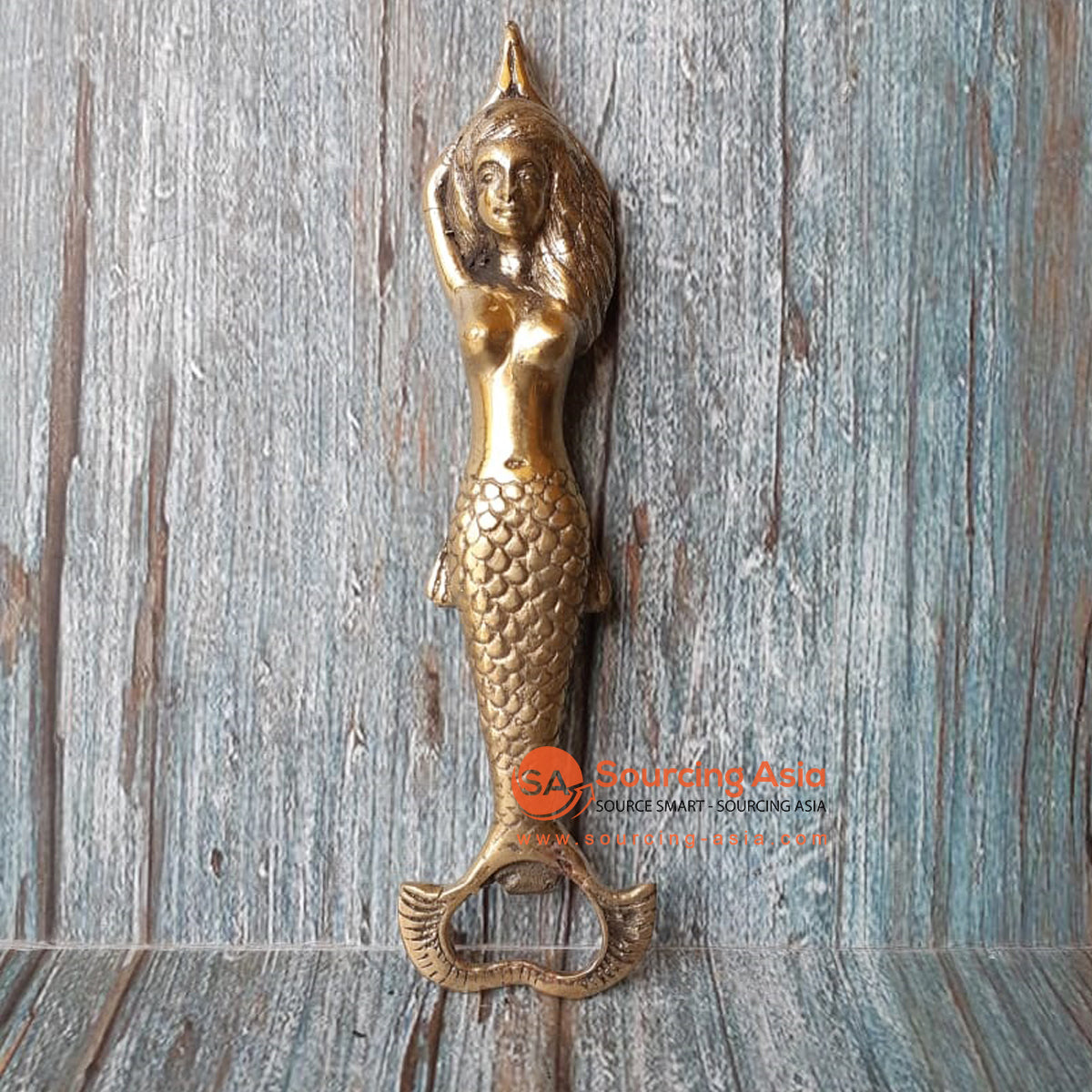 GB186 BRONZE BOTTLE OPENER MERMAID