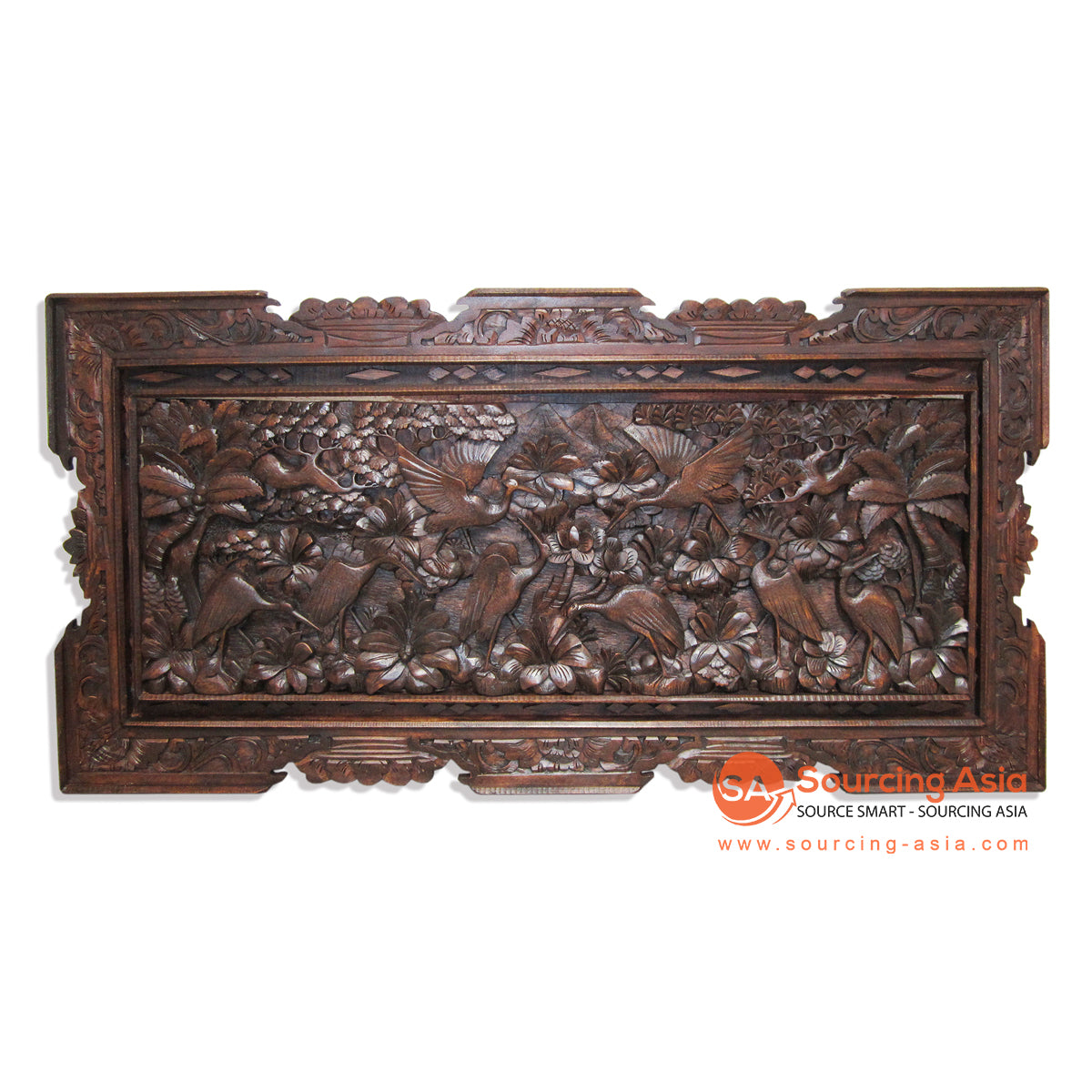 GUR007-FL WOODEN WALL DECORATION WITH CARVING