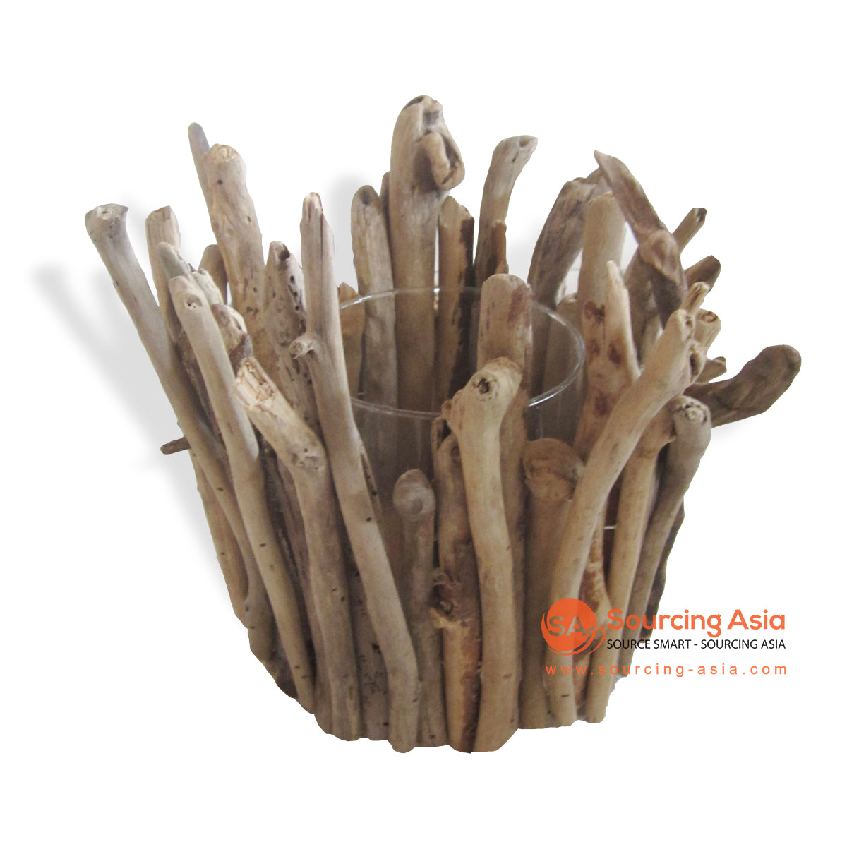 HAN029 DRIFTWOOD CANDLE HOLDER