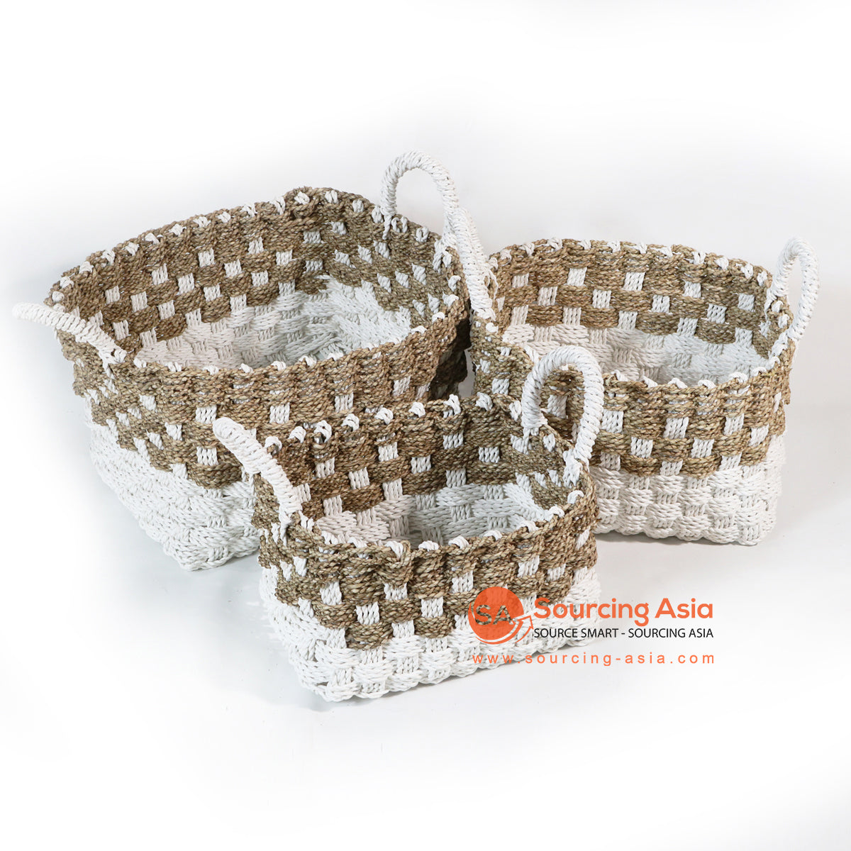 HBS056-1 SET 3 SEA GRASS BASKETS