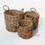 HBS180 SET OF 3 WATER HYACINTH BASKETS