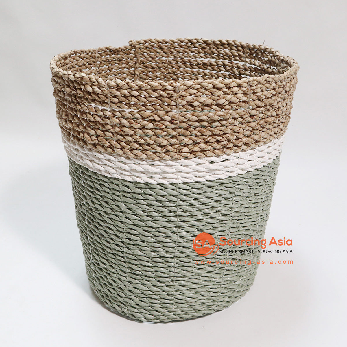 HBSC069-3 SEA GRASS WASTE PAPER BASKET