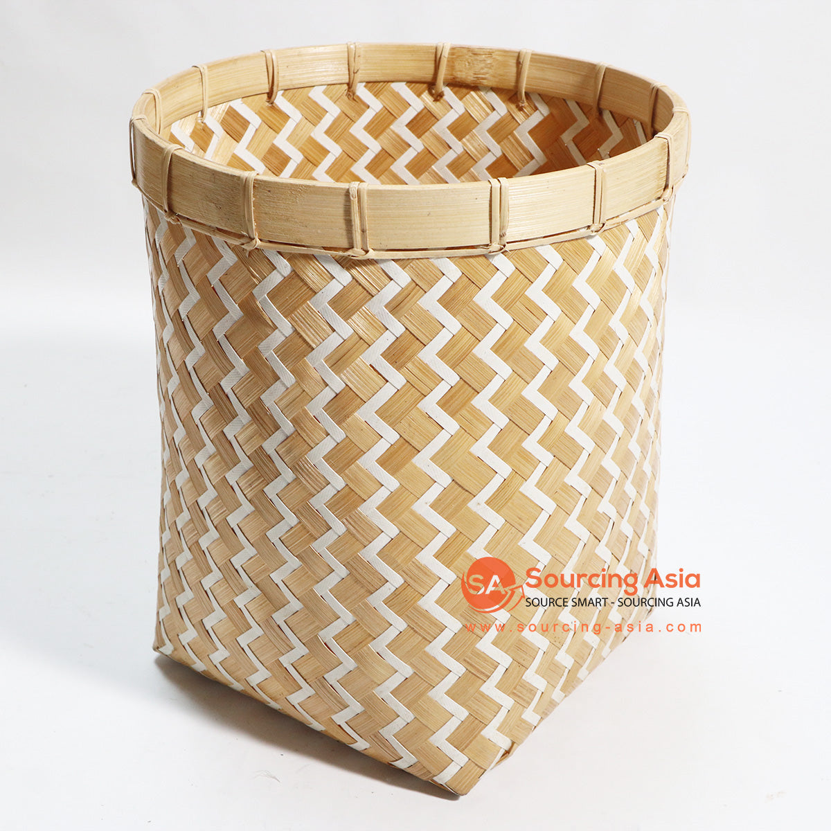 HBSC102 MIX BAMBOO AND SYNTHETIC WASTE PAPER BASKET