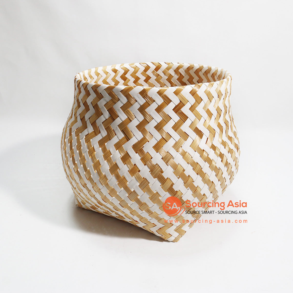 HBSC111 MIX BAMBOO AND SYNTHETIC WASTE PAPER BASKET