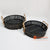 HBSC112 SET OF 2 BLACK BAMBOO TRAYS
