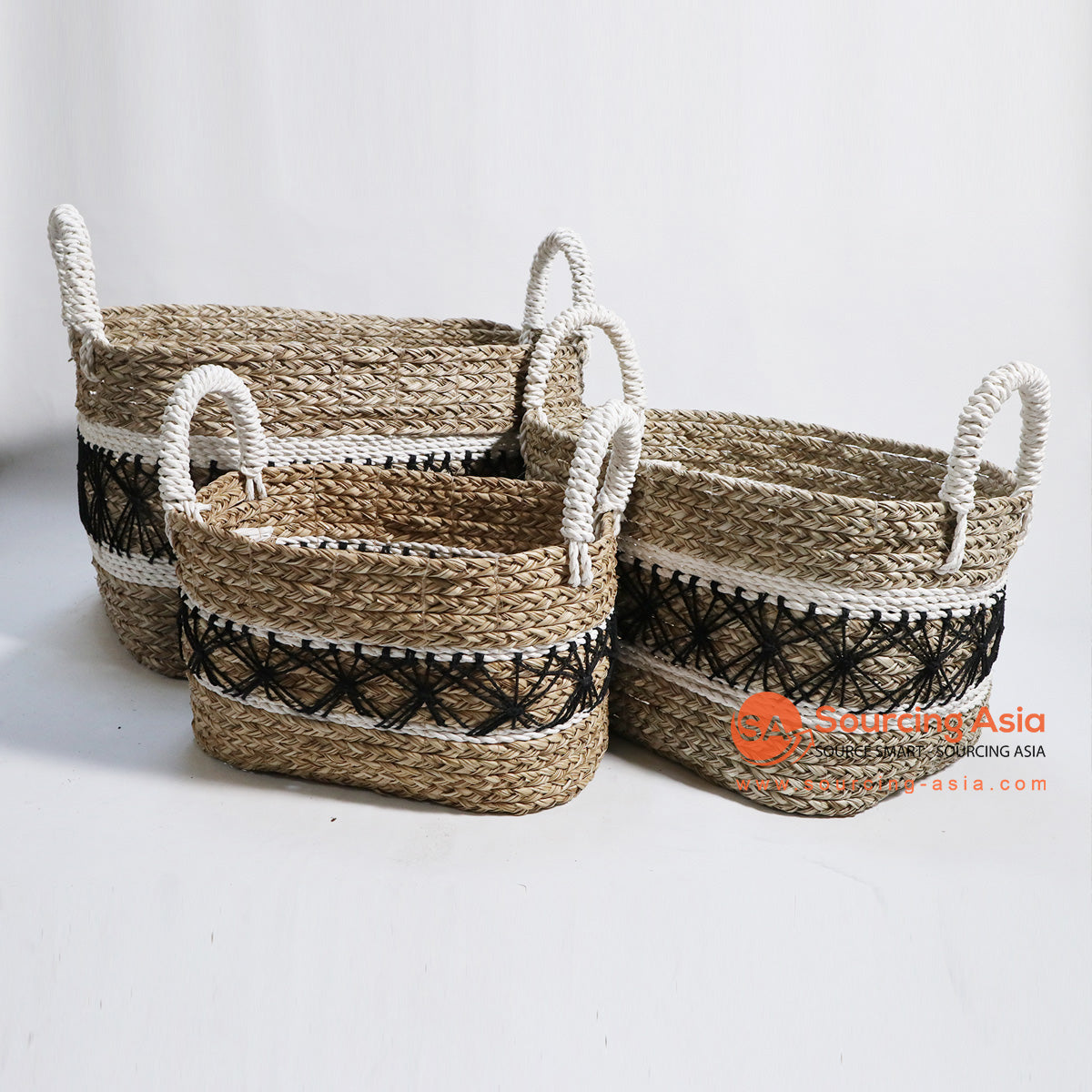 HBSC135-1 SET OF 3 MENDONG AND MACRAME BASKETS