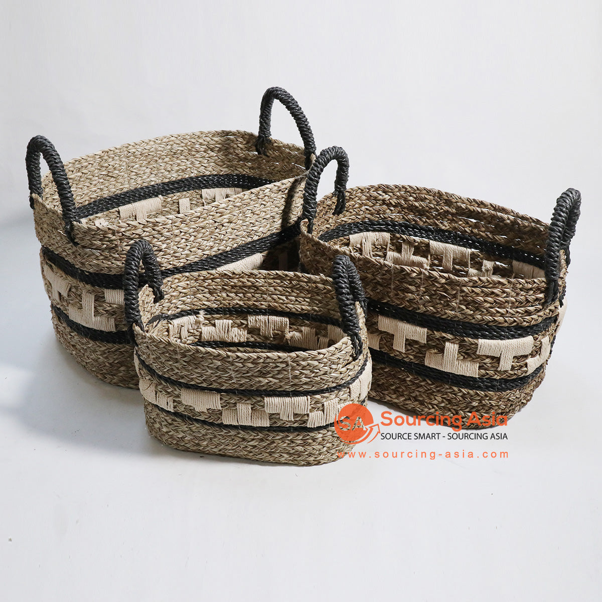 HBSC135 SET OF 3 MENDONG AND MACRAME BASKETS