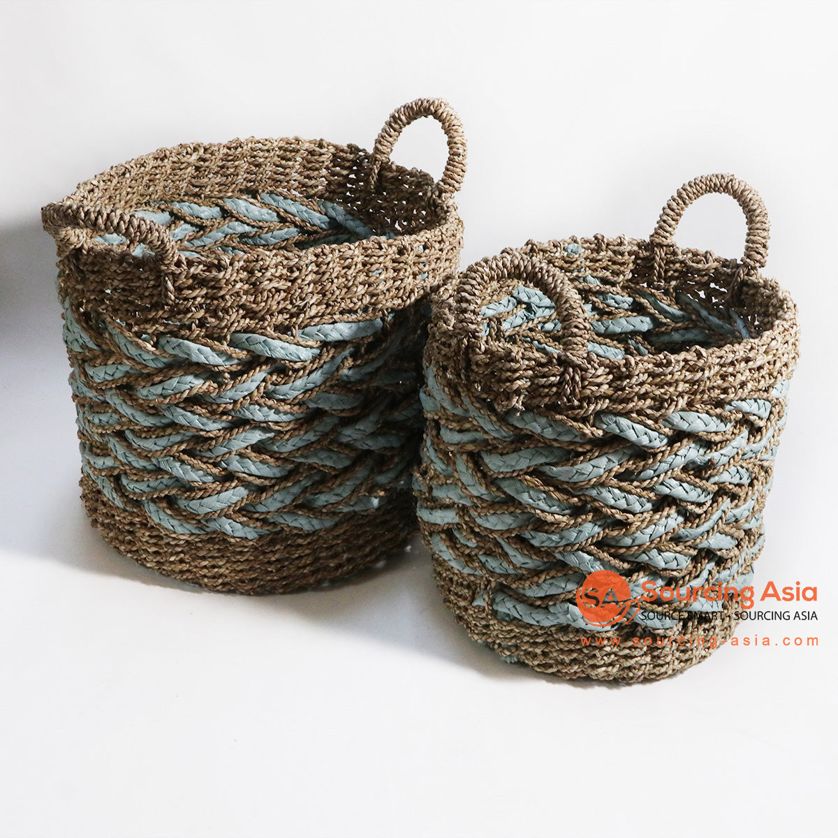 HBSC137 SET OF 2 MENDONG AND SEA GRASS BASKETS