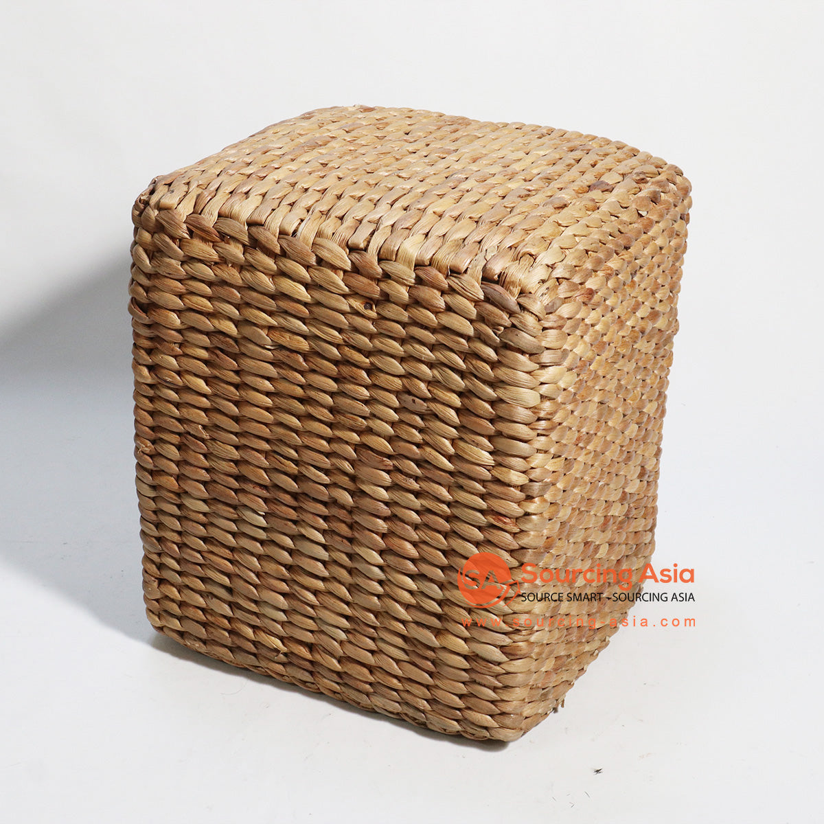 HBSC149 SQUARE WATER HYACINTH STOOL