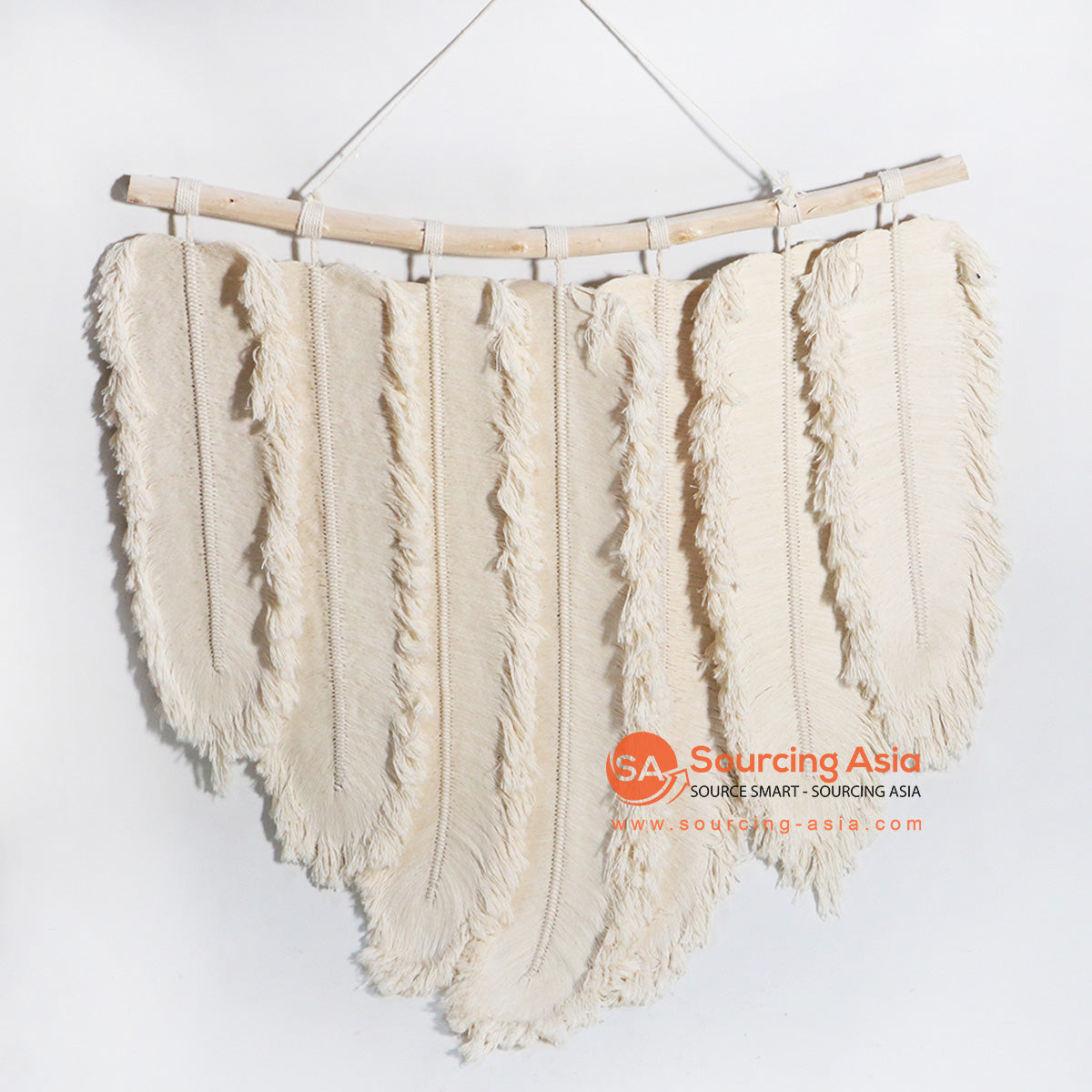 HBSC173-1 WHITE FEATHER TYPE WALL DECORATION