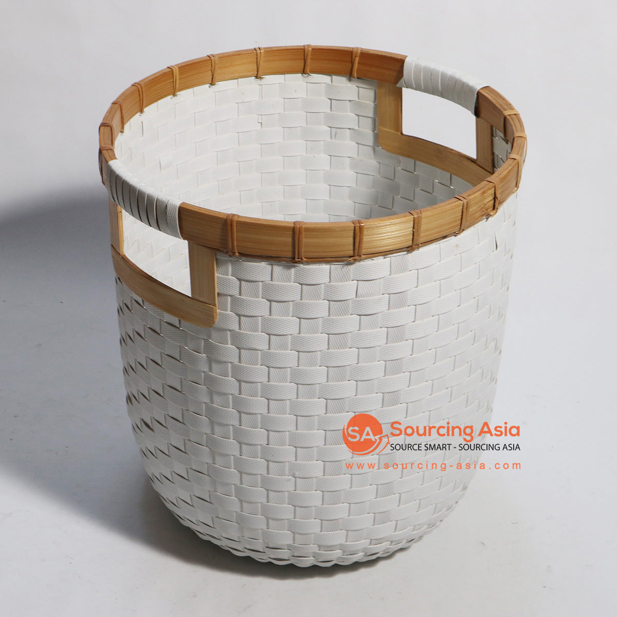 HBSC187 SYNTHETIC RATTAN AND BAMBOO BASKET