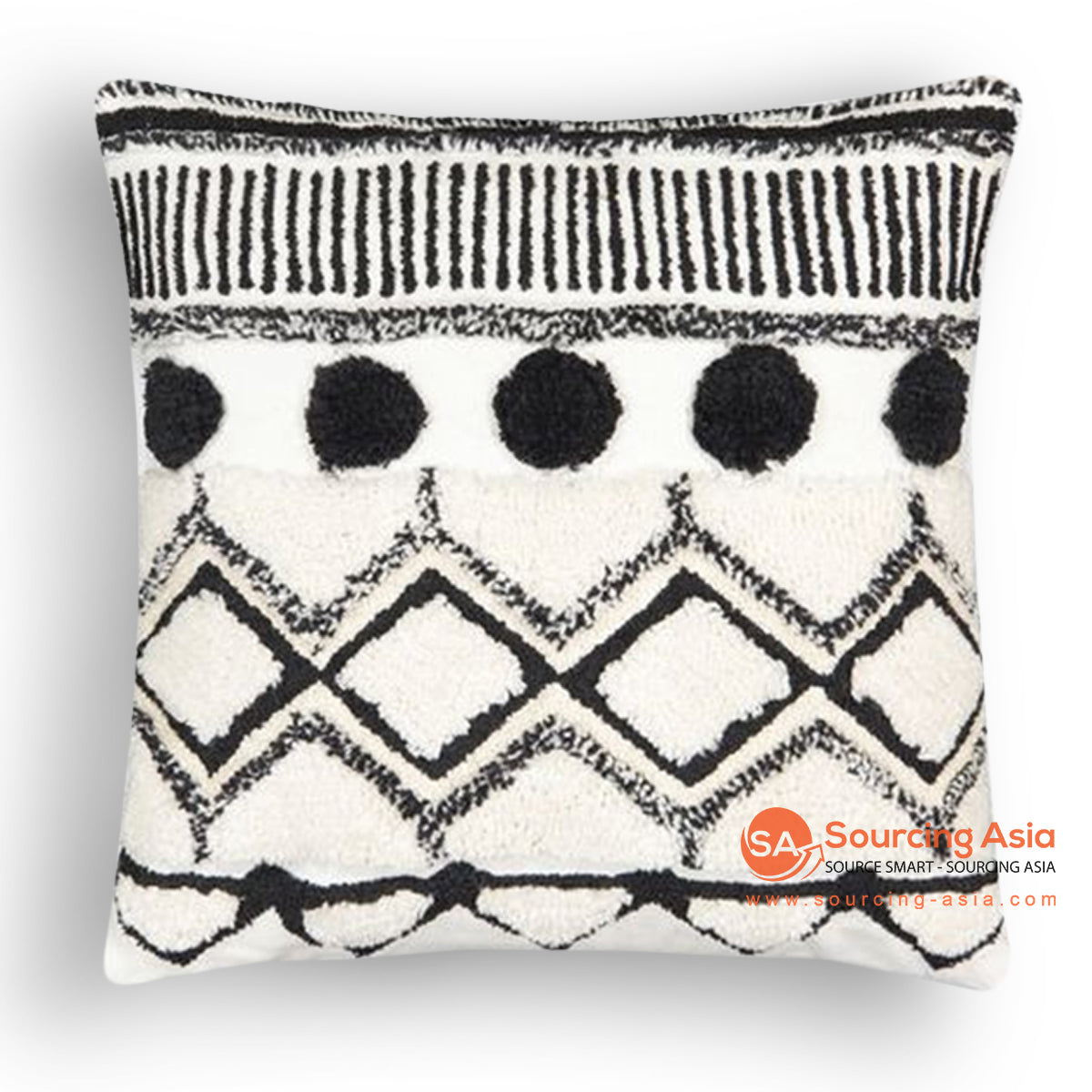 HIP015 EMBROIDERED CUSHION 50 X 50 CM