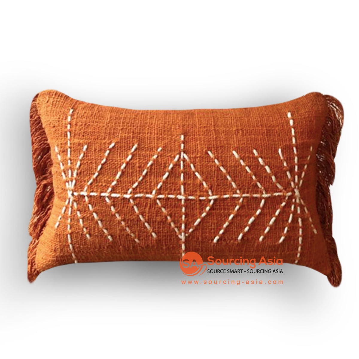 HIP018 HAND STITCHED COVER PILLOW WITH EMBROIDERY 50 X 25 CM