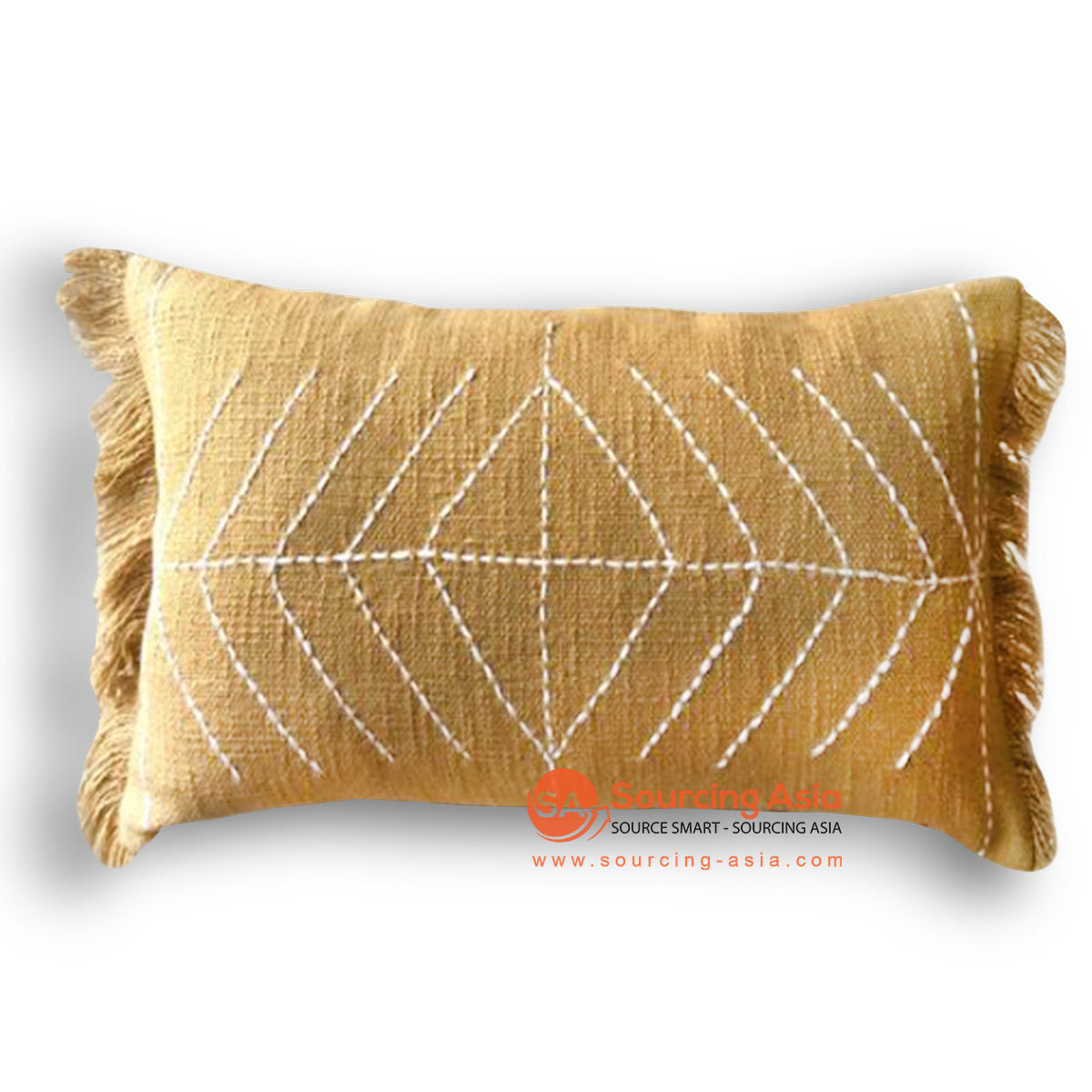 HIP020 HAND STITCHED COVER PILLOW WITH EMBROIDERY 50 X 25 CM