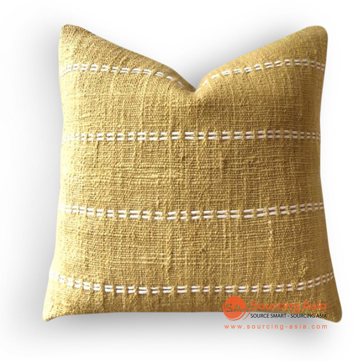 HIP021 HAND STITCHED COVER PILLOW WITH EMBROIDERY AND TASSELS 50 X 50 CM