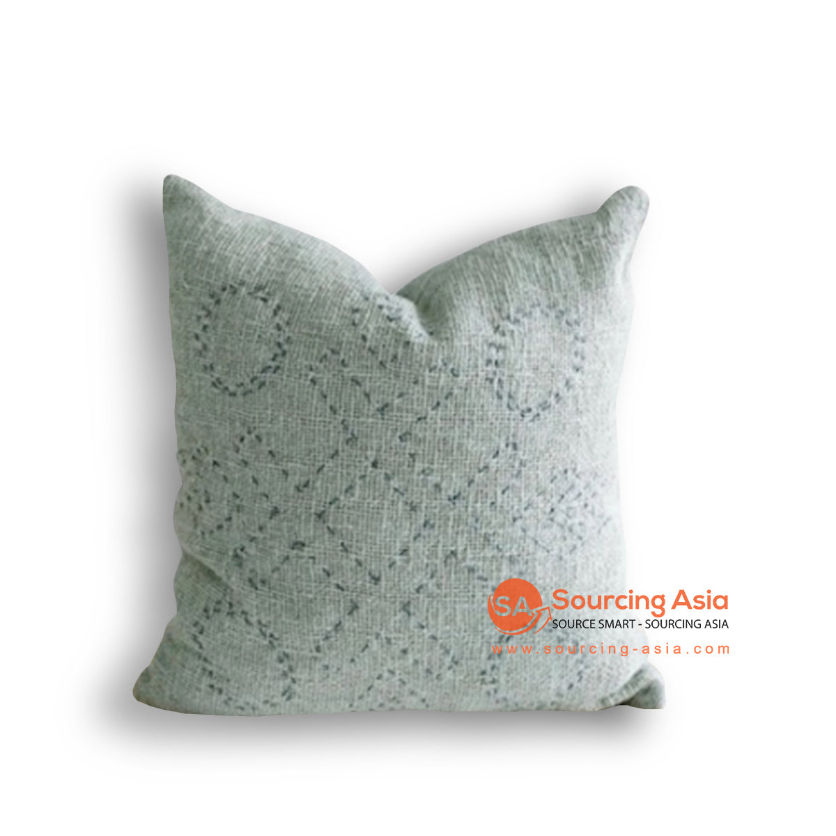 HIP023-1 HAND STITCHED COVER PILLOW WITH EMBROIDERY 50 X 50 CM