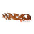 ICP27-100CM WOODEN DOLPHIN WALL DECORATION