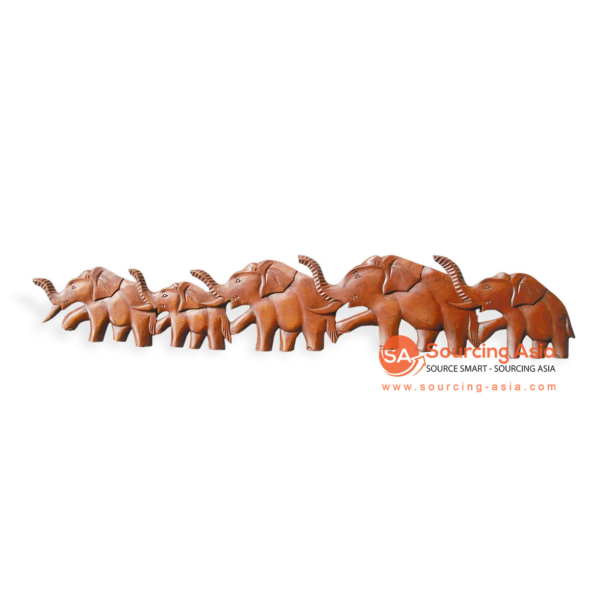 ICP29-100 WOODEN ELEPHANT WALL DECORATION