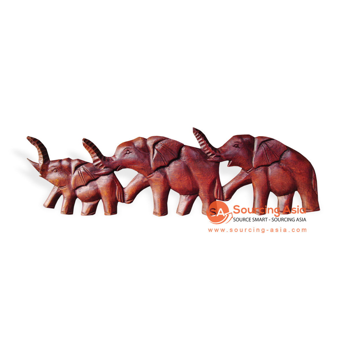 ICP29-50CM WOODEN ELEPHANT WALL DECORATION