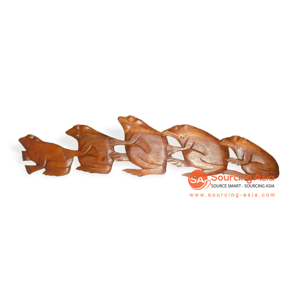 ICP33-100 WOODEN FROG WALL DECORATION