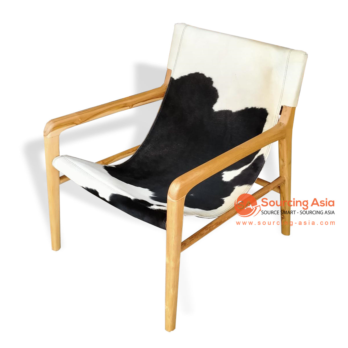 IJF016 SLINGBACK LEATHER LAZY CHAIR