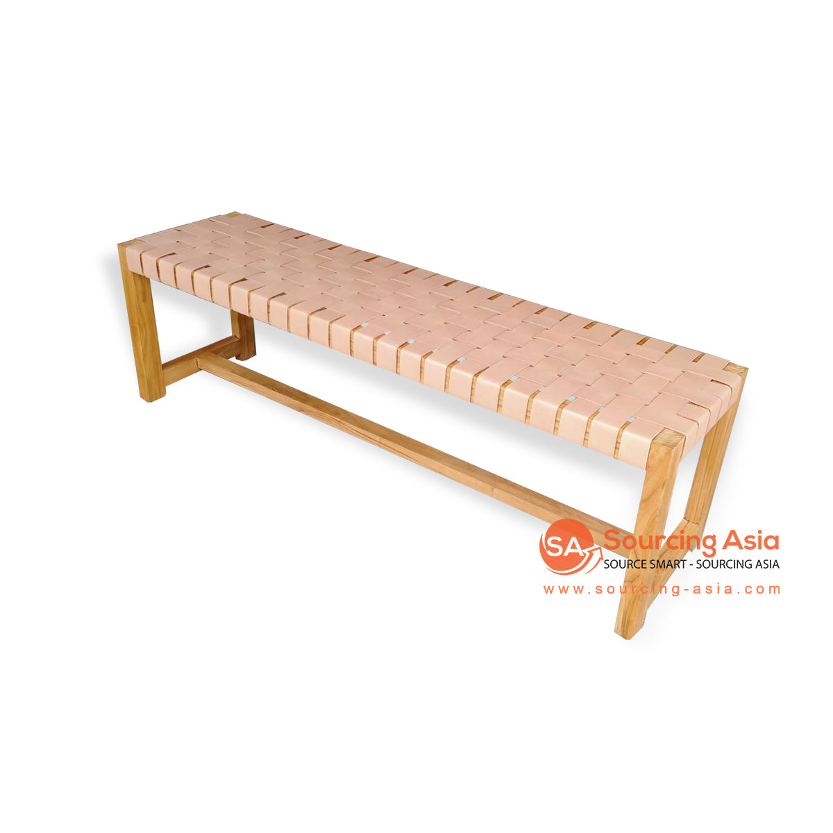 IJF019 WOVEN LEATHER BED END BENCH