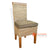IMAL120 BANANA FIBER DINING CHAIR WITH WOODEN TOP