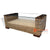 IMALCT13SP BANANA FIBER COFFEE TABLE GLASS TOP