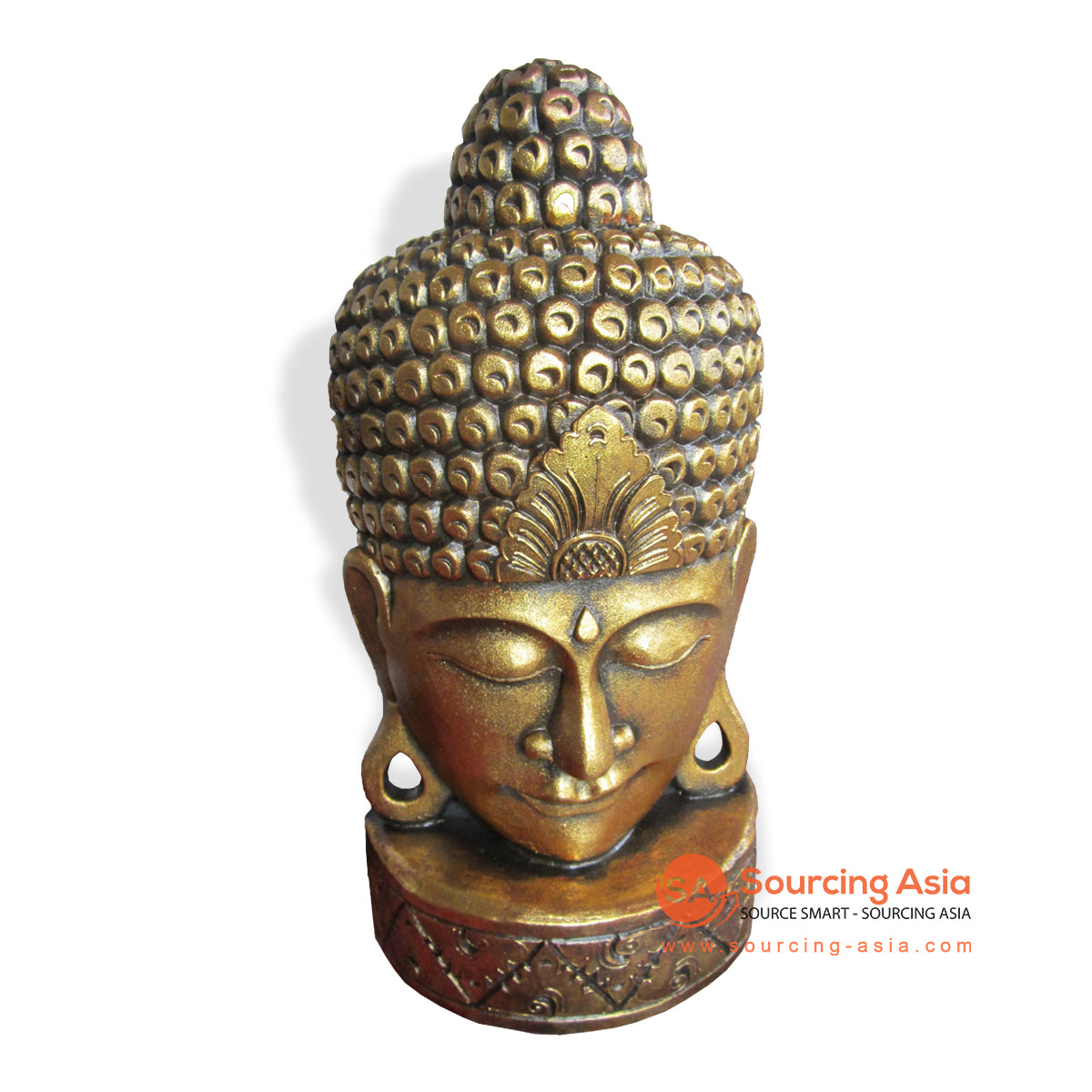 ISUL124 GOLD BUDDHA HEAD DECORATION