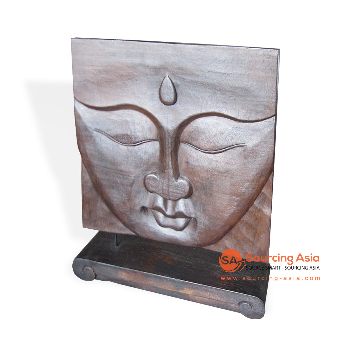 ISUL156-40X40 WOODEN BUDDHA DECORATION