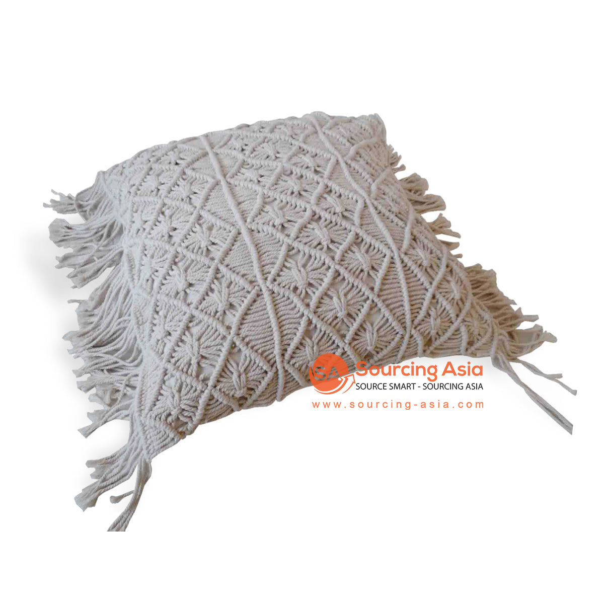 JMH107-1 MACRAME CUSHION