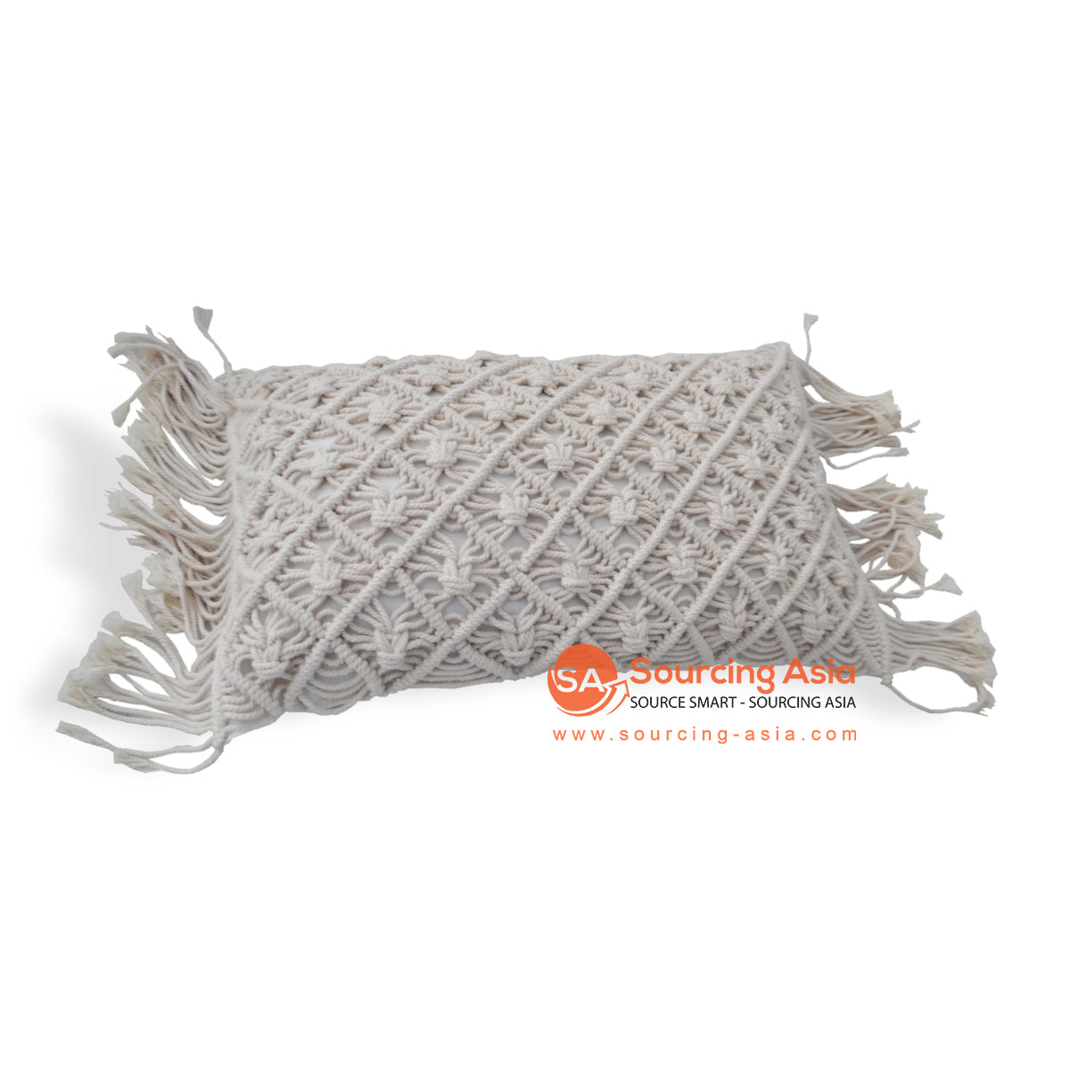 JMH107-2 MACRAME CUSHION