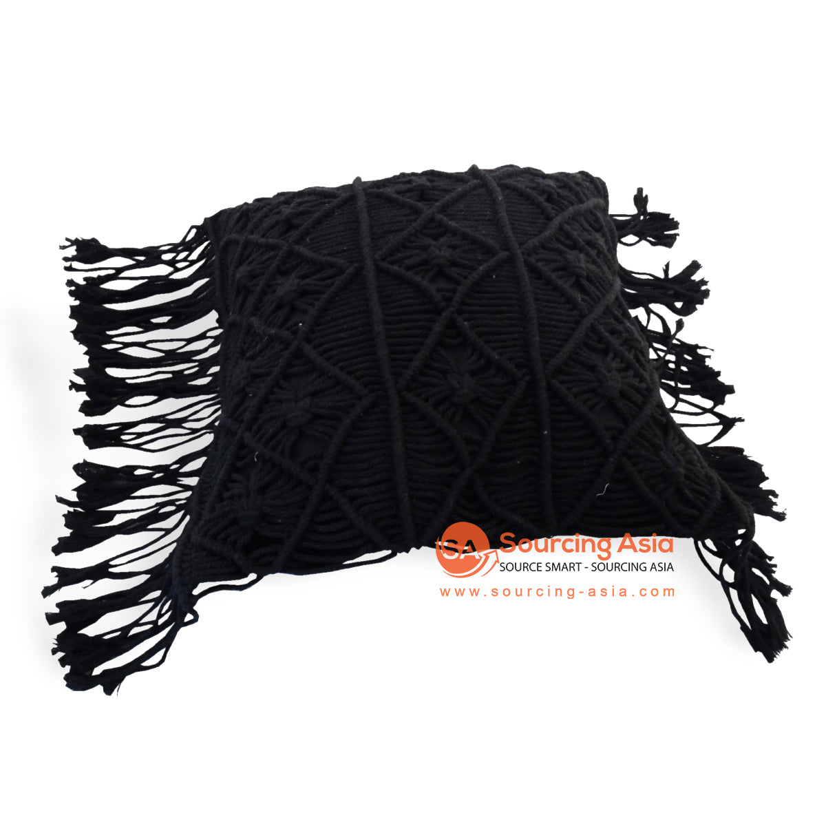 JMH107BK MACRAME CUSHION