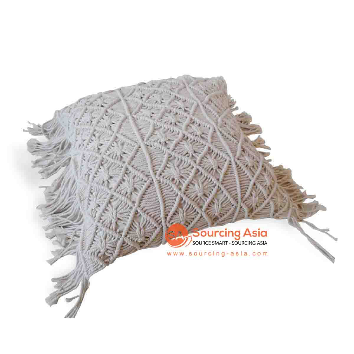 JMH107NAT MACRAME CUSHION