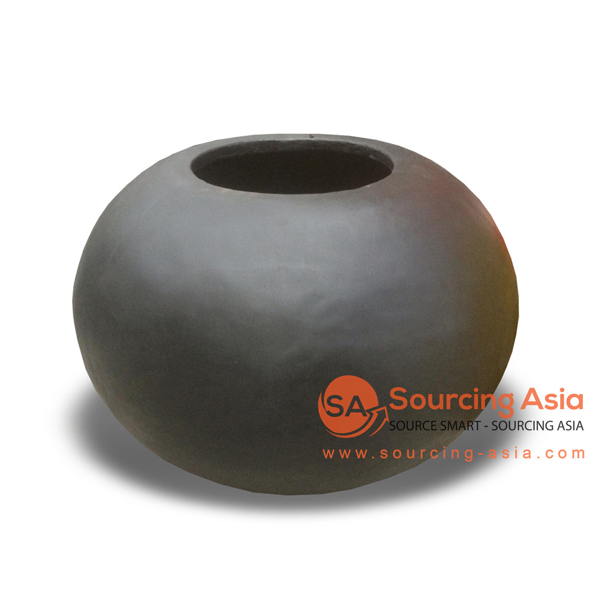 JNP291-BDOP TERRACOTTA BLACK BOWL VASE
