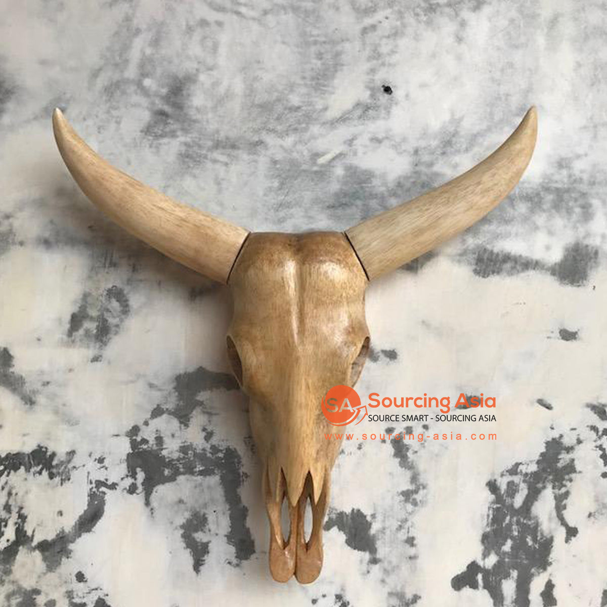 KHLV013-1 - WOODEN BUFFALO HEAD