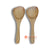 KHLV024 SET OF TWO NATURAL TEAK WOOD SPOONS
