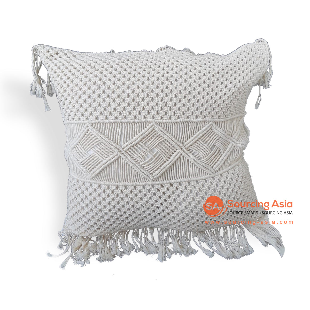 KHLV036 MACRAME CUSHION