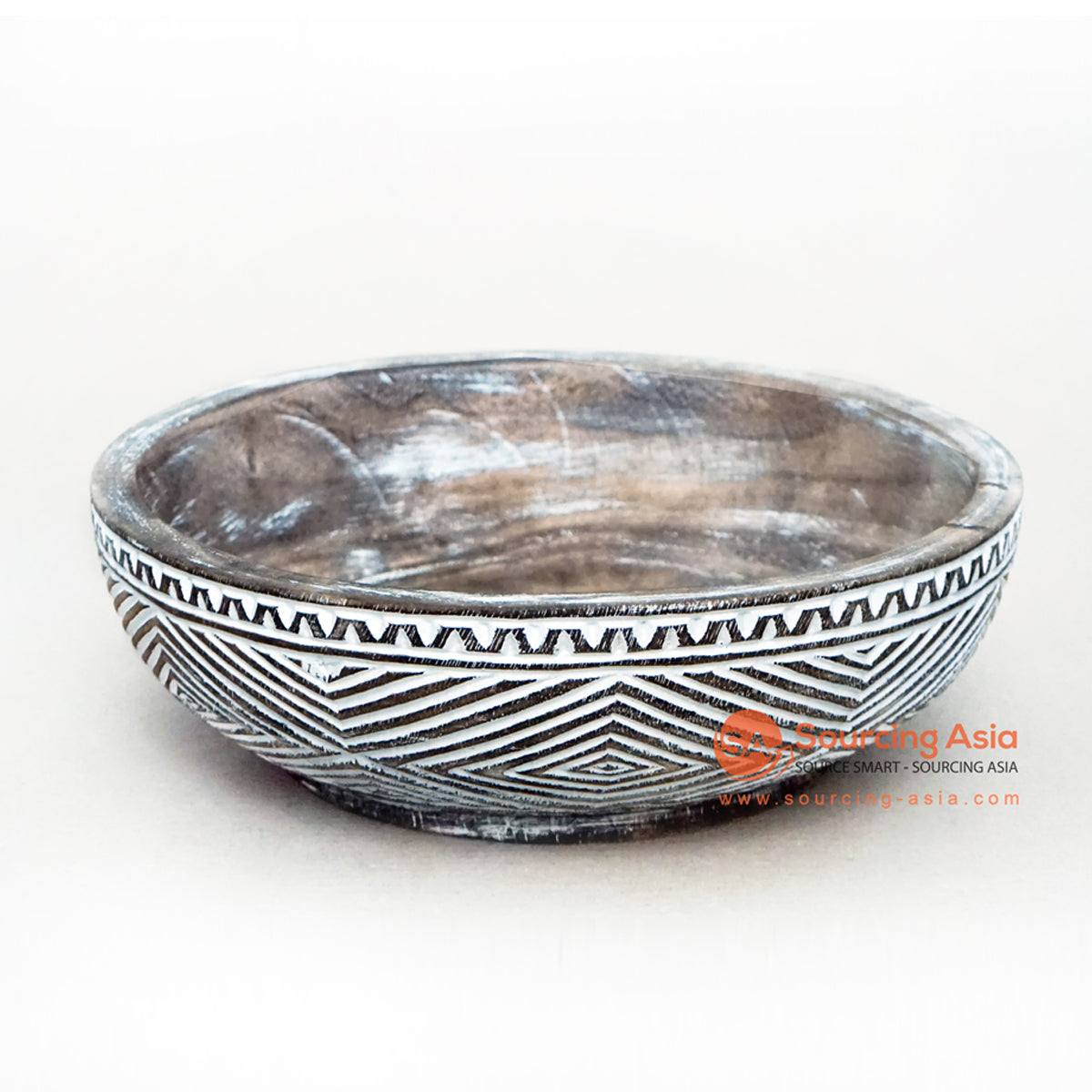 KHLV039-1 WOODEN ETHNIC TRIBAL CARVED BOWL