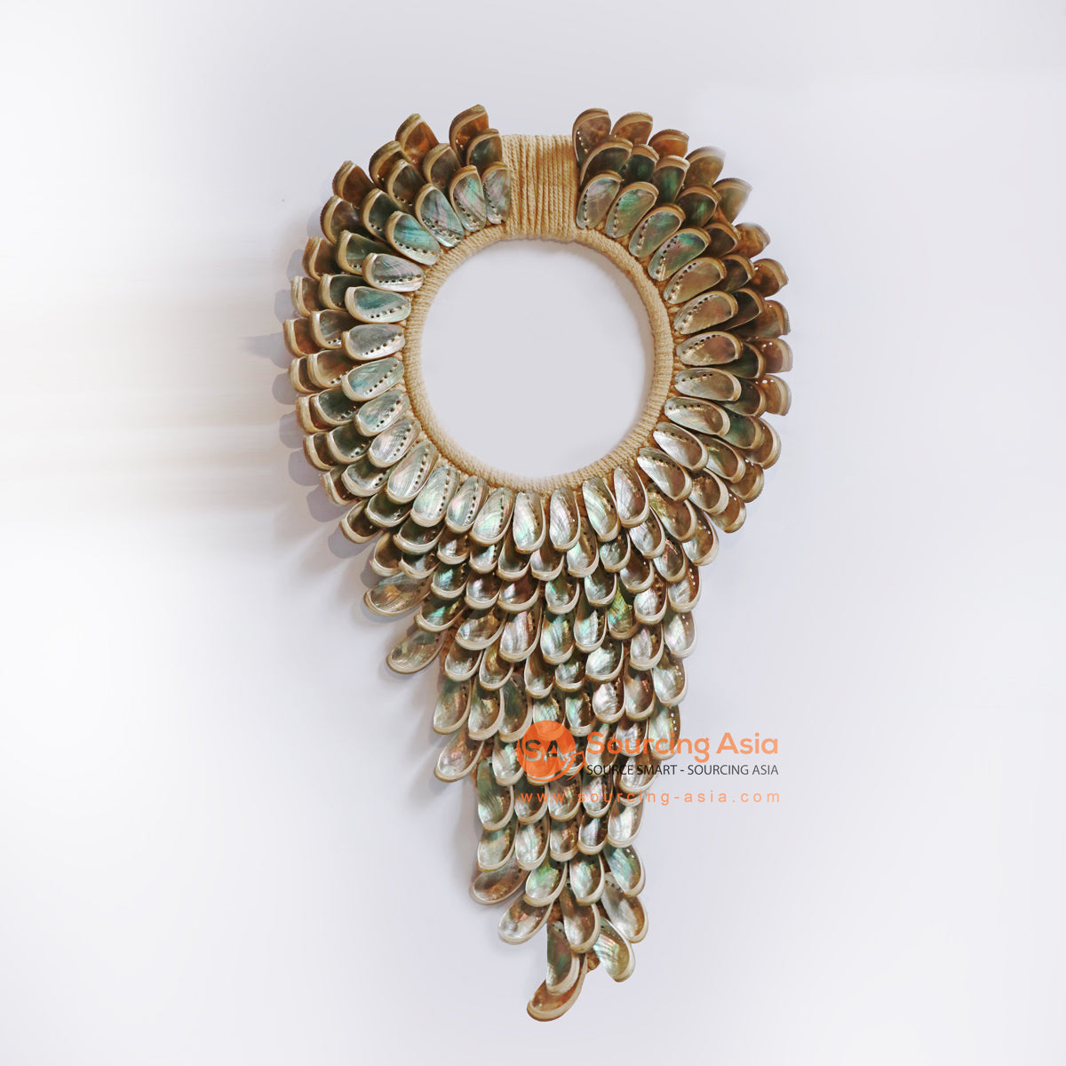 KNT089 TRIANGLE SHELL NECKLACE WALL DECORATION