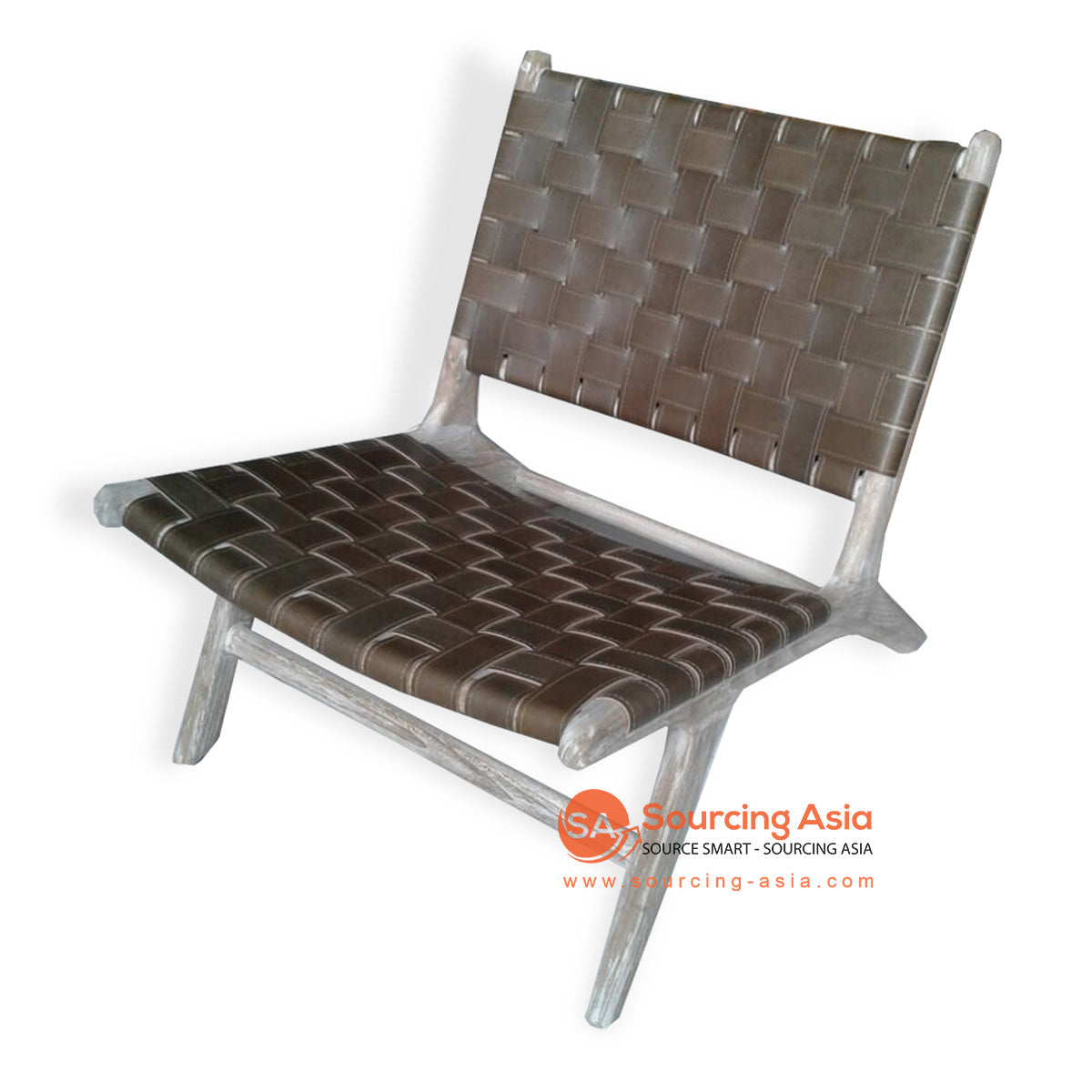 KUSJ002-A5 WOVEN LEATHER LAZY CHAIR
