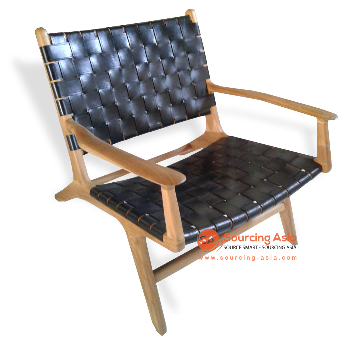 KUSJ002-C4 WOVEN LAZY CHAIR WITH ARMS