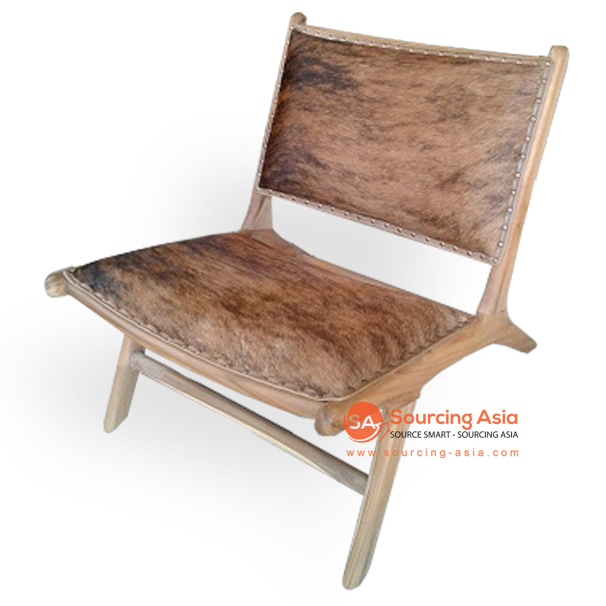 KUSJ002-CH LAZY CHAIR WITH COW HIDE
