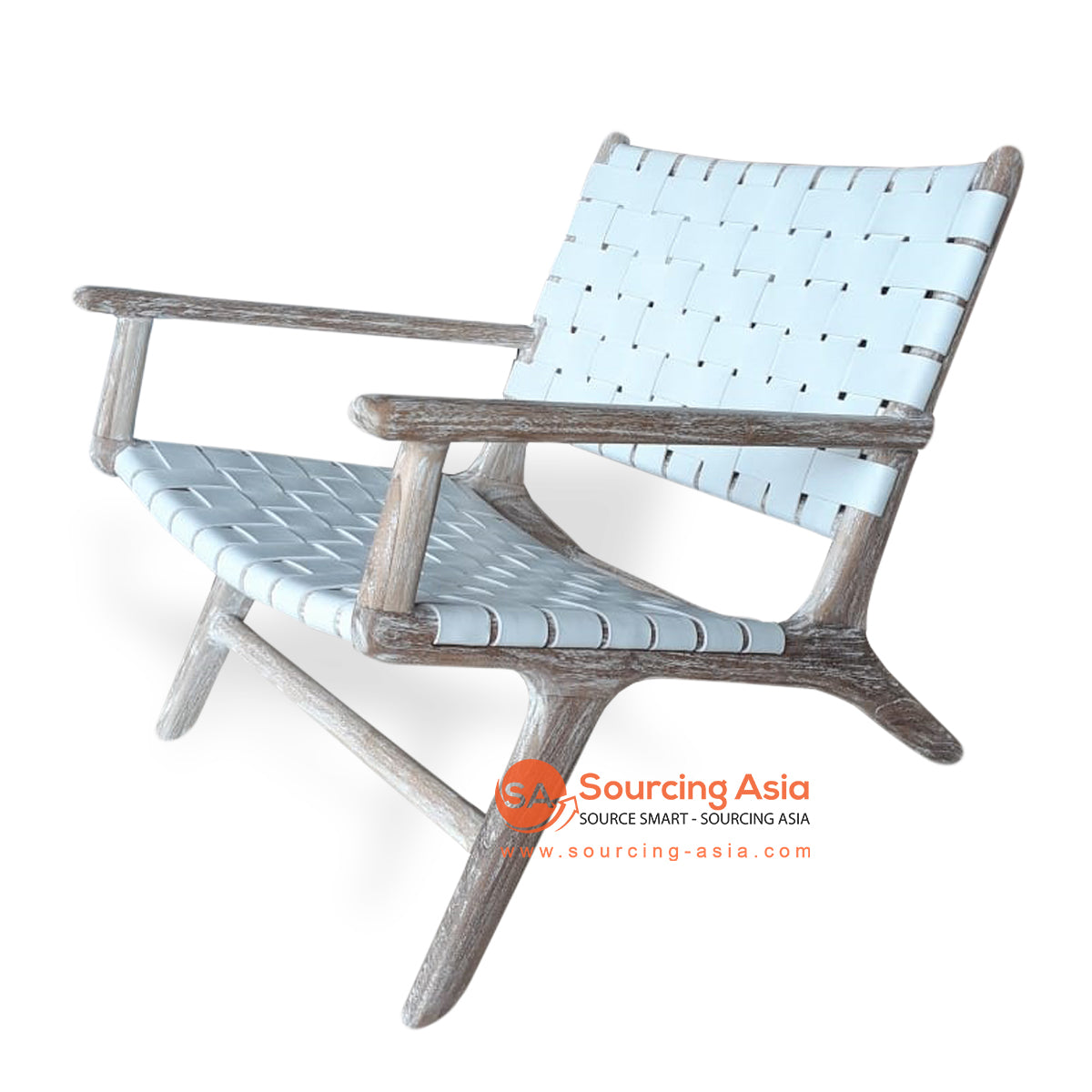 KUSJ002-CS2SP WOVEN LAZY CHAIR WITH ARMS