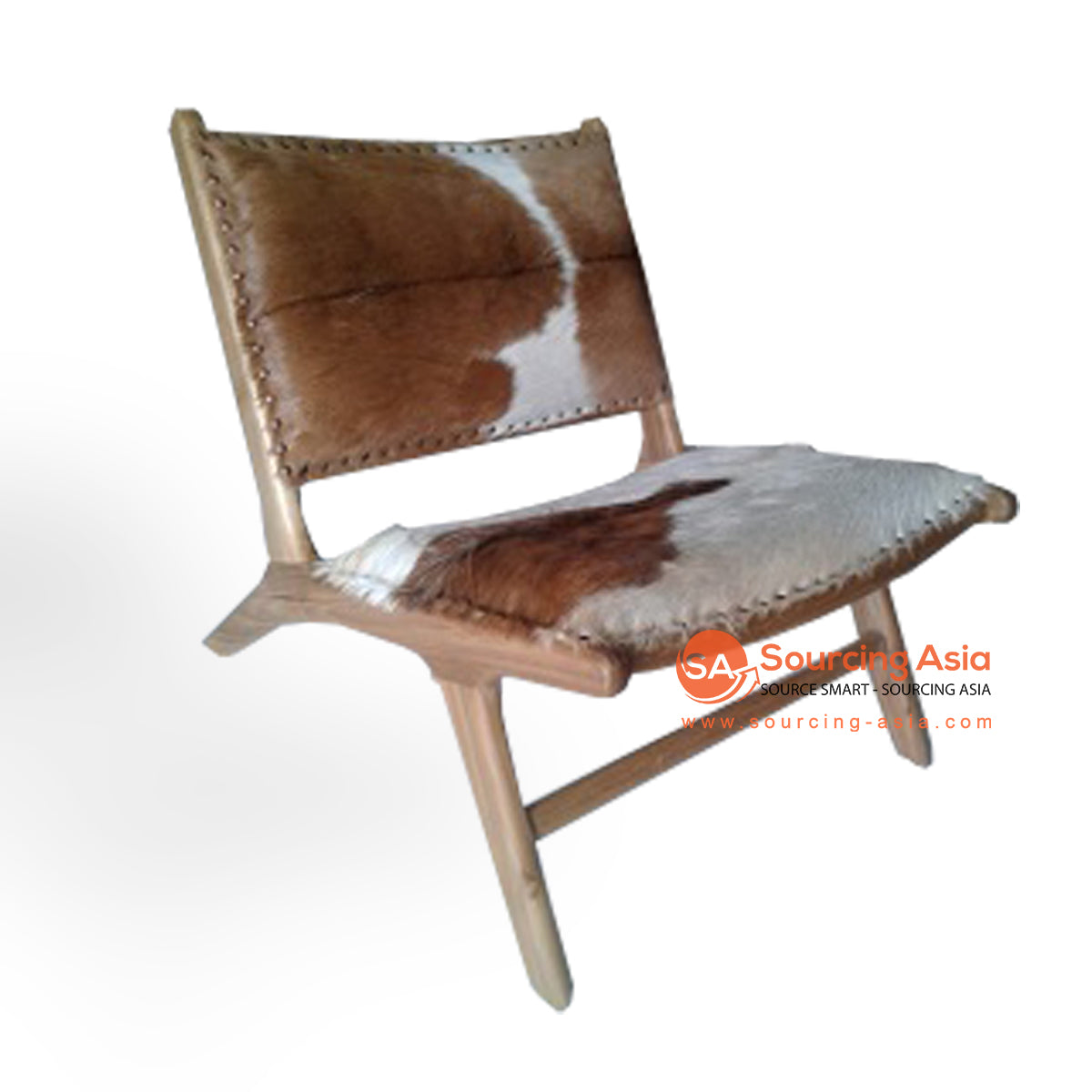 KUSJ002-DW COW HIDE LAZY CHAIR