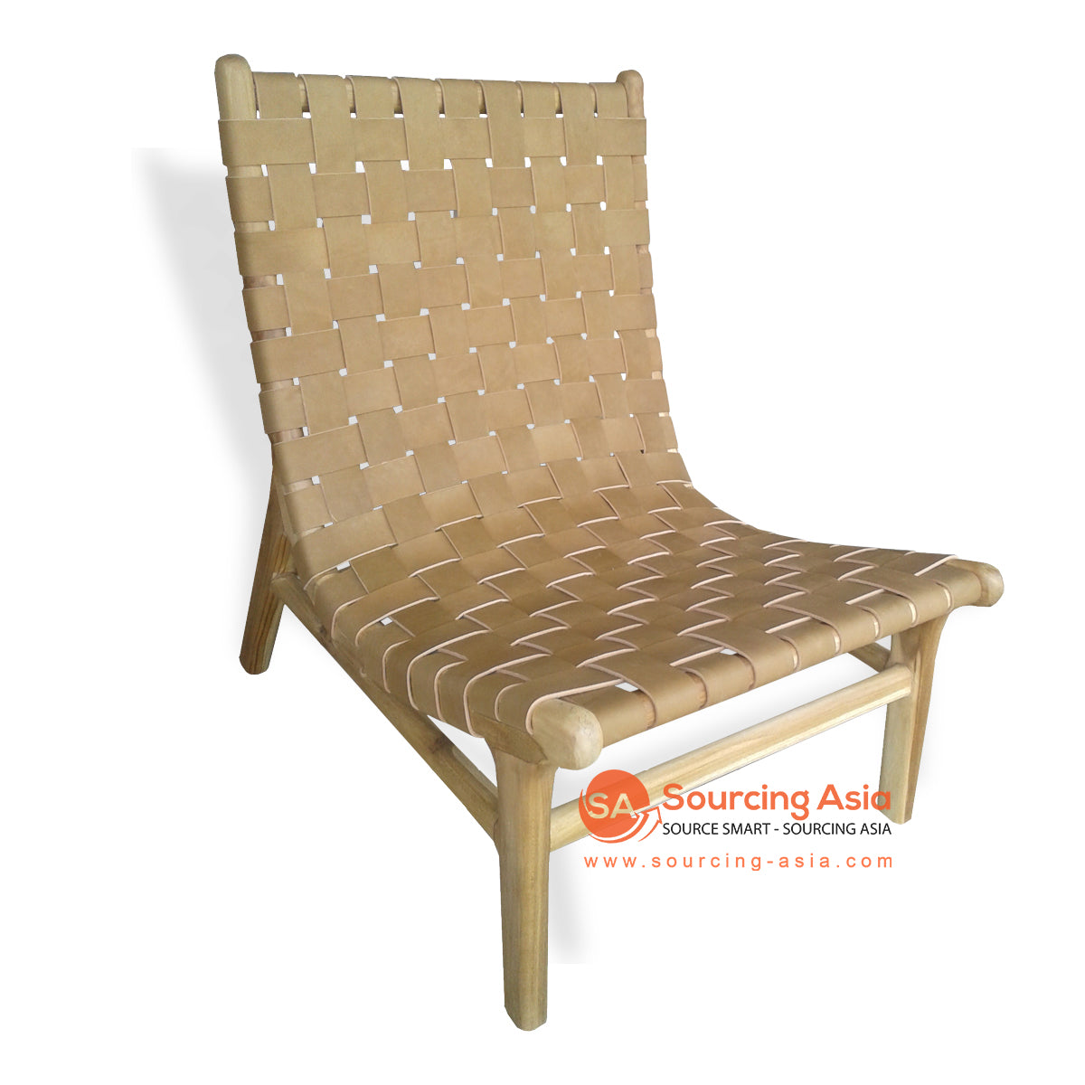 KUSJ034 WOVEN LEATHER LAZY CHAIR