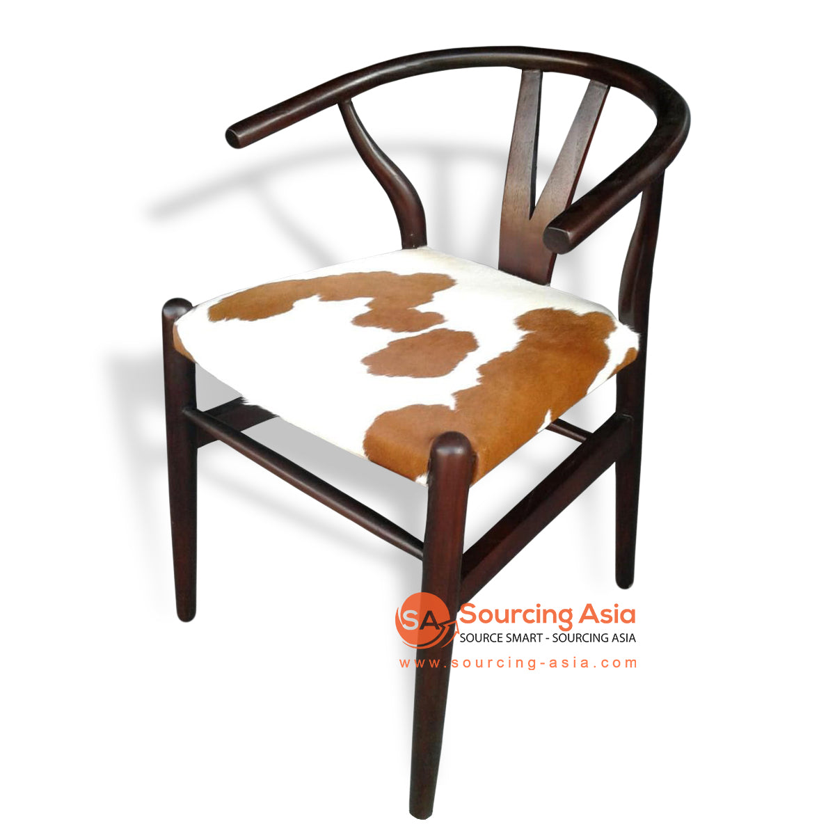 KUSJ072-1 COW HIDE DINING CHAIR